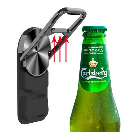 Drzač RING STENT BEER crni