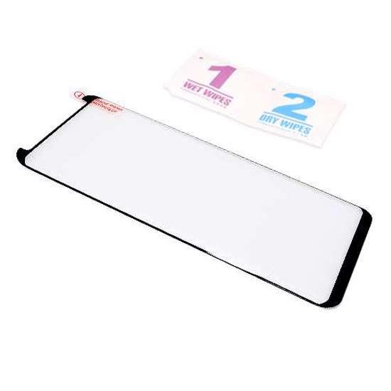 Folija za zaštitu ekrana GLASS 3D MINI FULL GLUE NT za Samsung G955F Galaxy S8 Plus zakrivljena crna