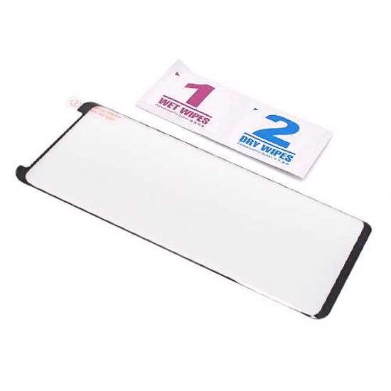 Folija za zaštitu ekrana GLASS 3D MINI FULL GLUE NT za Samsung G965F Galaxy S9 Plus zakrivljena crna