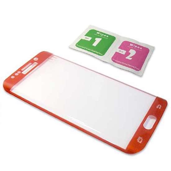 Folija za zastitu ekrana GLASS 3D za Samsung G925 Galaxy S6 Edge zakrivljena crvena
