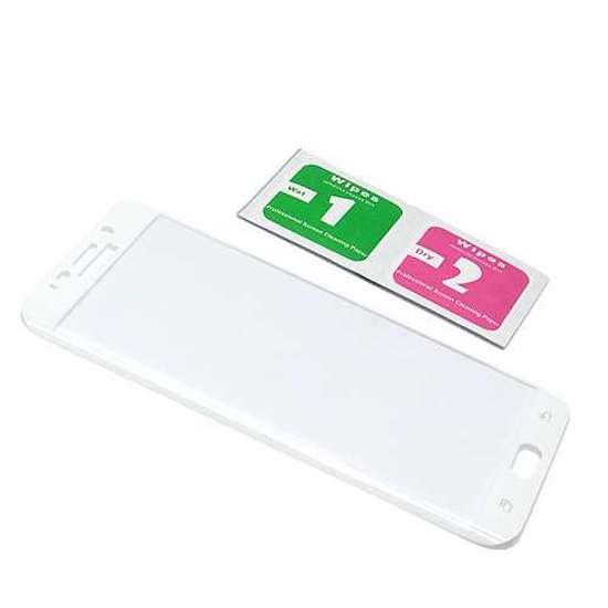 Folija za zaštitu ekrana GLASS 3D za Samsung G928 Galaxy S6 Edge Plus zakrivljena bijela