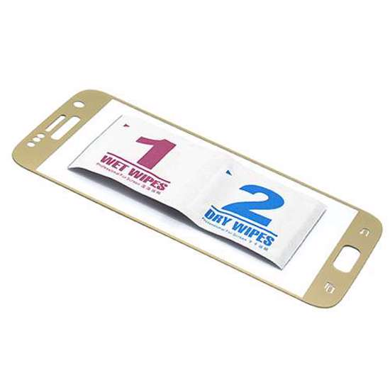 Folija za zaštitu ekrana GLASS 3D za Samsung G930 Galaxy S7 zakrivljena zlatna