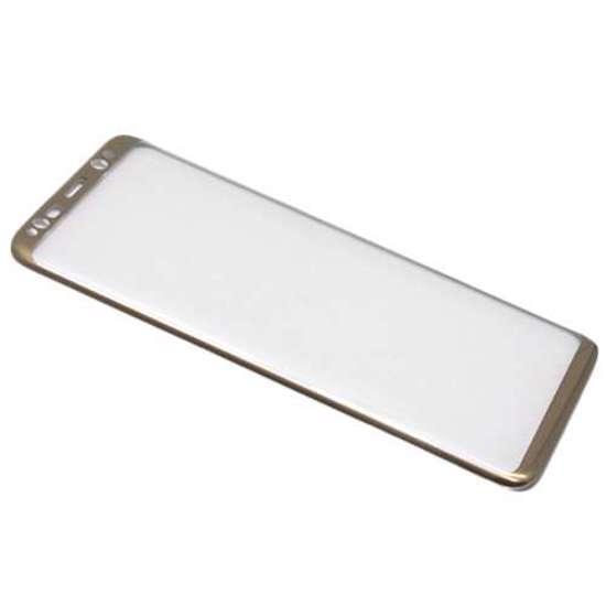 Folija za zastitu ekrana GLASS 3D za Samsung G950F Galaxy S8 zakrivljena zlatna
