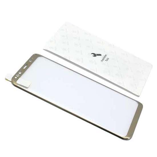 Folija za zaštitu ekrana GLASS BASEUS ARC za Samsung G955F Galaxy S8 Plus zlatna 3D