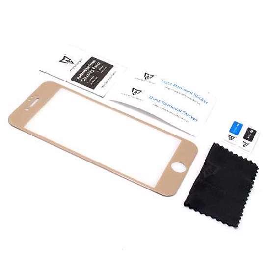 Folija za zaštitu ekrana GLASS MONSTERSKIN 3D za Iphone 8 zlatna