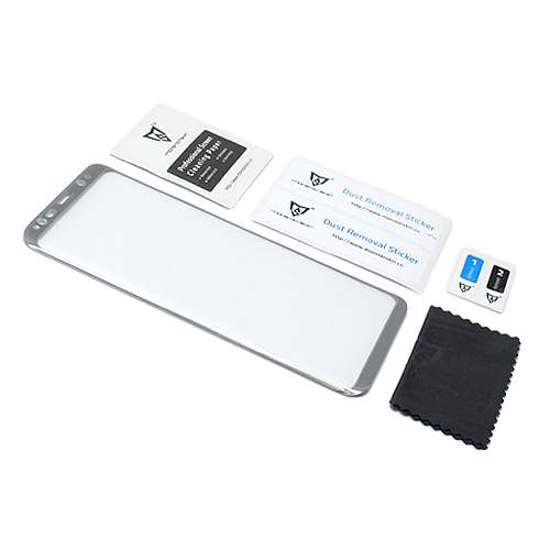 Folija za zaštitu ekrana GLASS MONSTERSKIN 3D za Samsung G950F Galaxy S8 srebrna