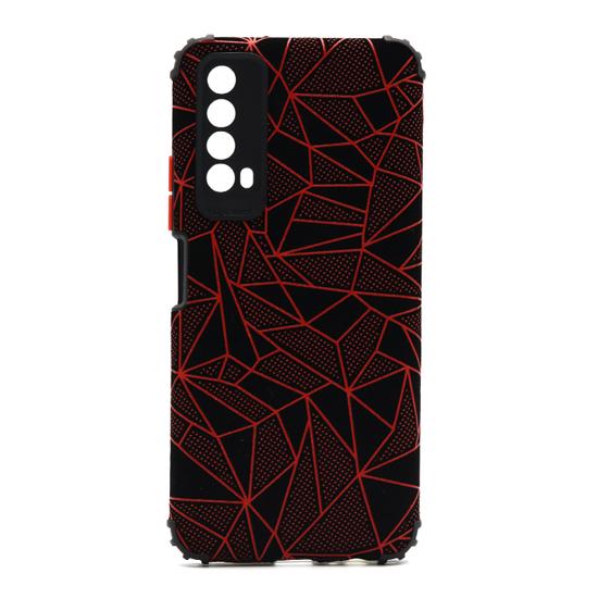 Futrola Elegant Mosaic za Huawei P Smart 2021/Y7a crvena