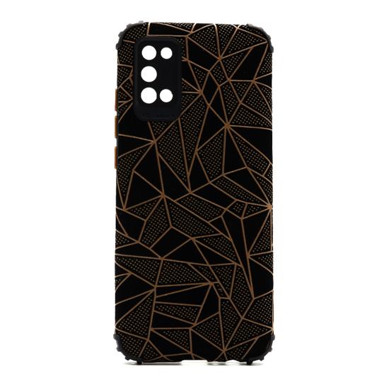 Futrola Elegant Mosaic za Samsung A025G Galaxy A02s braon