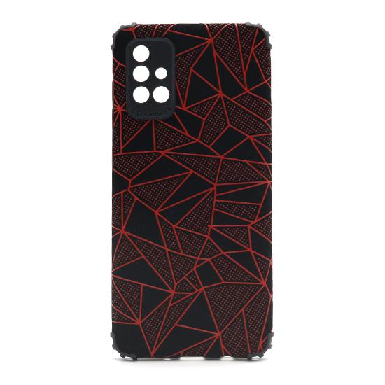 Futrola Elegant Mosaic za Samsung A715F Galaxy A71 crvena