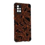 Futrola Elegant Mosaic za Samsung A715F Galaxy A71 narandžasta