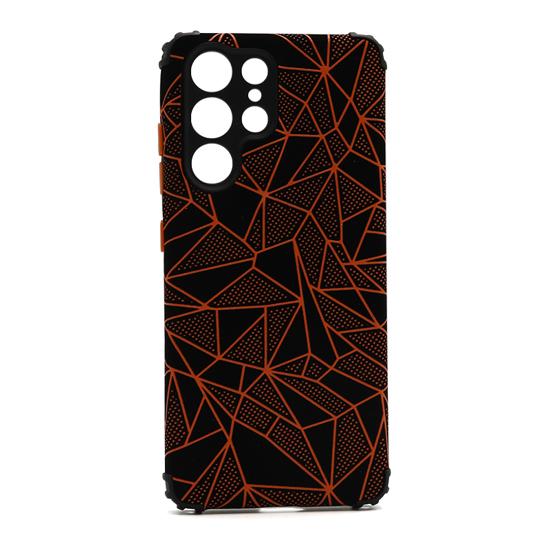 Futrola Elegant Mosaic za Samsung G998F Galaxy S21 Ultra narandžasta