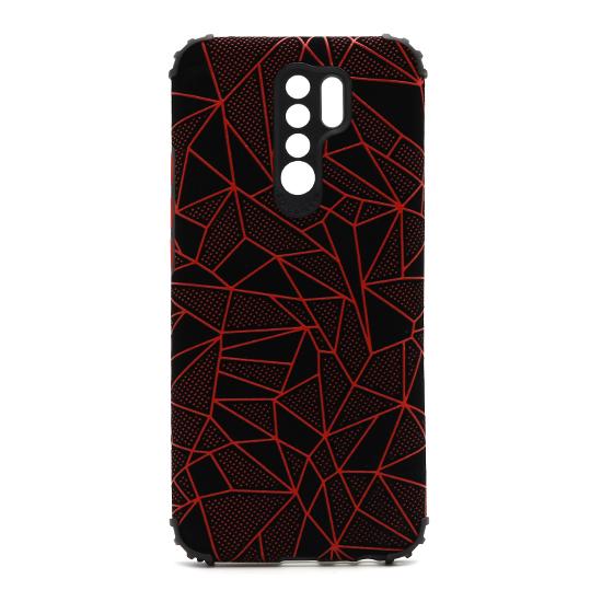 Futrola Elegant Mosaic za Xiaomi Redmi 9 crvena