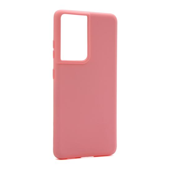 Futrola Soft Silicone za Samsung G998F Galaxy S21 Ultra roze