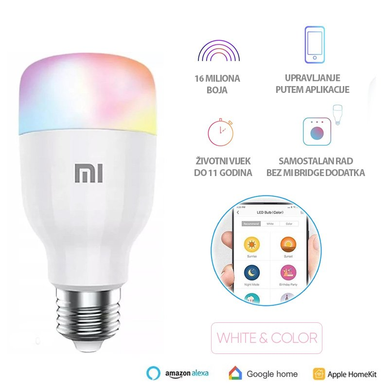 Mi Smart Led Bulb Essential(White and Color)