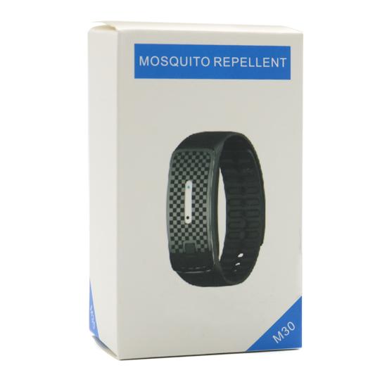 Narukvica za odbijanje komaraca M30 fashion crna