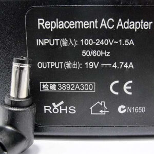 Punjač za laptop Acer 19V 4.74A (5.5-2.5) ugao 90