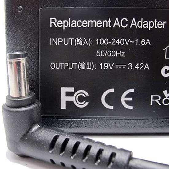 Punjač za laptop Toshiba 19V 3.42A (5.5-2.5) ugao 90
