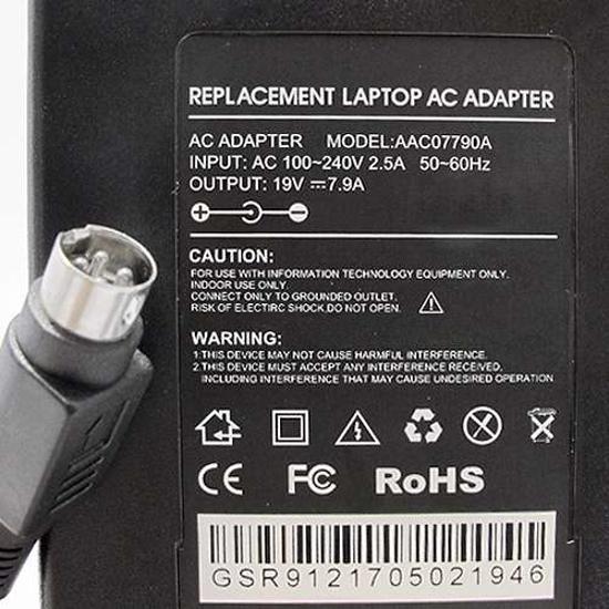 Punjač za laptop za AC 19V 7.9A (4 PINS) HQ AC07790A