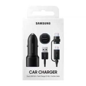 Samsung Car Charger Duo (Fast Charging Dual Port USB-A x2ea) black