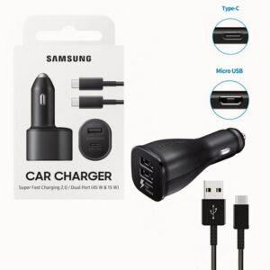 Samsung Dual Car Charger (1xUSB-C 45W 1x USB-A 15W)