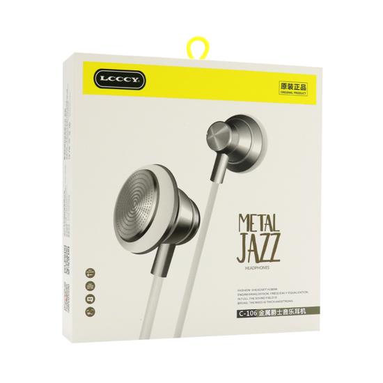 Slušalice LCCCY C-106 Metal Jazz 3.5mm bijele