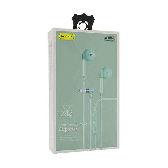 Slušalice LCCCY X-12 3.5mm tirkizne