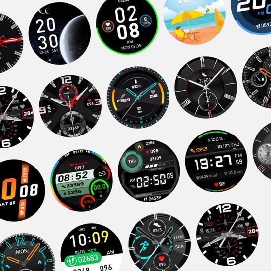 Smart Watch DT92 crni (kožna narukvica)