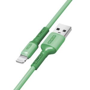 USB data kabal MOXOM MX-CB53 LIGHTNING zeleni