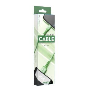 USB data kabal MOXOM MX-CB53 TYPE-C zeleni