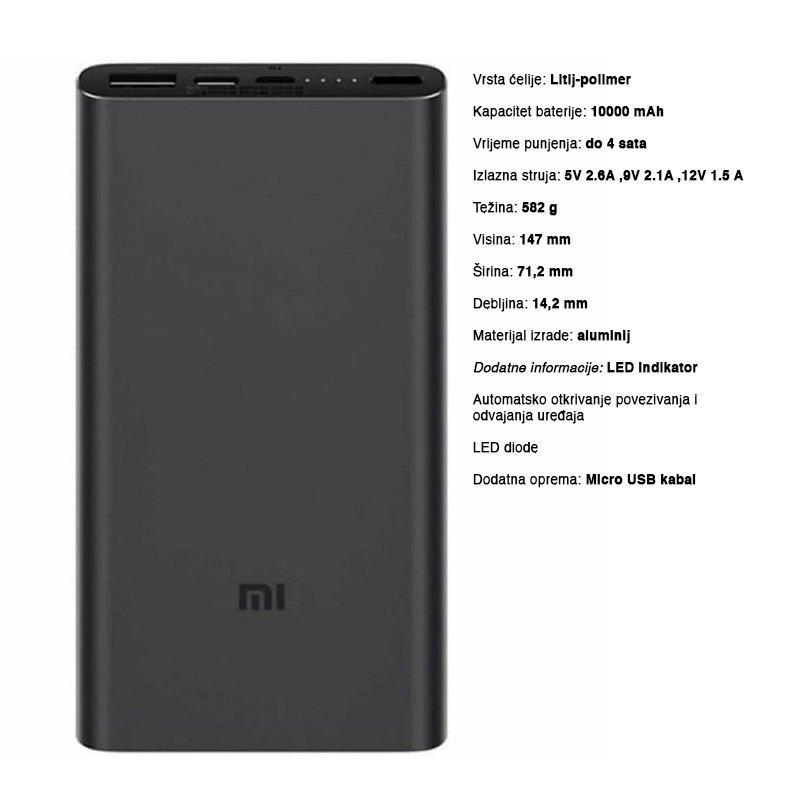Xiaomi 10000mAh Mi 18W Fast Charge Power Bank 3 b