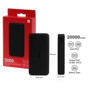 Xiaomi 20000mAh Redmi 18W Fast Charge PB (Black)