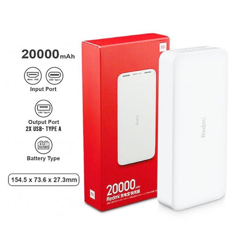 Xiaomi 20000mAh Redmi 18W Fast Charge PB (White)