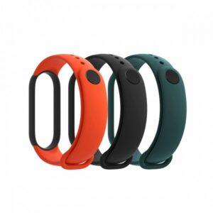 Xiaomi Mi Band 5 Strap (3-Pack Black,Orange,Teal)