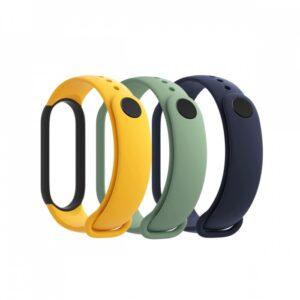 Xiaomi Mi Band 5 Strap (3-Pack Blue,Yellow,Green)