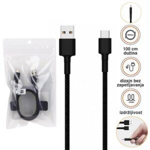 Xiaomi Mi Type-C Braided Cable (1m) black