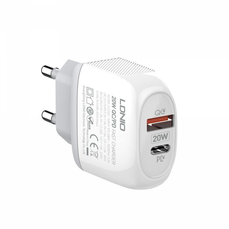 Kućni punjač LDNIO PD+QC3.0 A2316C-EU